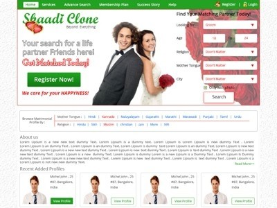 1052 template for Matrimonial